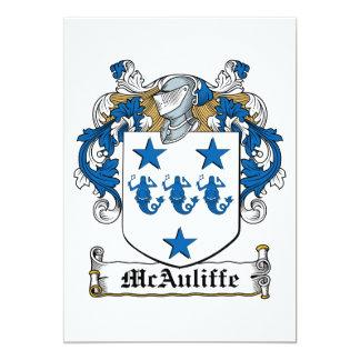 """Escudo de la familia de McAuliffe Invitación 5"""" X 7"""""""