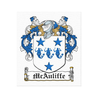 Escudo de la familia de McAuliffe Lienzo Envuelto Para Galerias