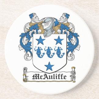 Escudo de la familia de McAuliffe Posavaso Para Bebida