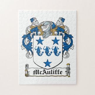 Escudo de la familia de McAuliffe Rompecabeza Con Fotos