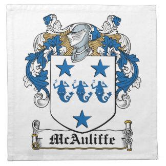 Escudo de la familia de McAuliffe Servilleta De Papel