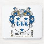 Escudo de la familia de McAuliffe Alfombrilla De Ratones