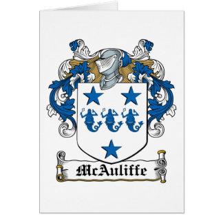 Escudo de la familia de McAuliffe Tarjeta De Felicitación