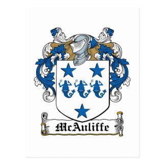 Escudo de la familia de McAuliffe Tarjetas Postales