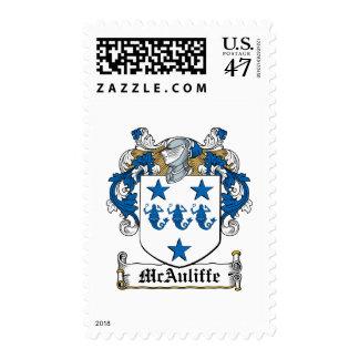 Escudo de la familia de McAuliffe Timbre Postal