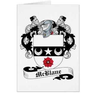 Escudo de la familia de McBlane Tarjeta De Felicitación