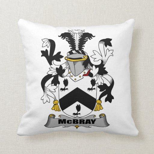 Escudo de la familia de McBray Cojin