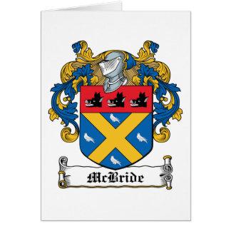 Escudo de la familia de McBride Felicitacion