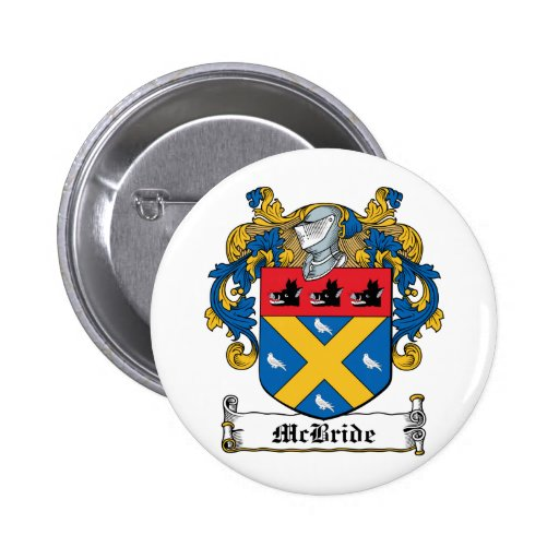 Escudo de la familia de McBride Pin Redondo 5 Cm