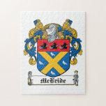 Escudo de la familia de McBride Rompecabezas Con Fotos