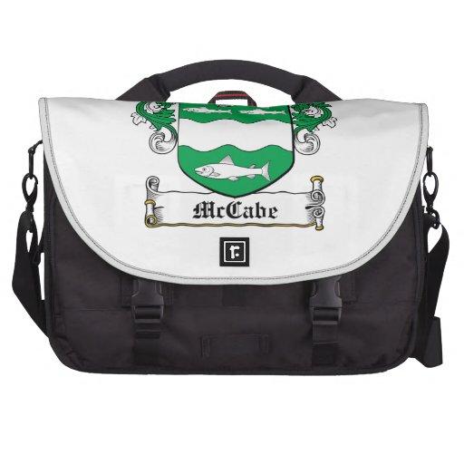 Escudo de la familia de McCabe Bolsas Para Portátil