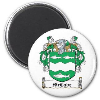 Escudo de la familia de McCabe Imán Redondo 5 Cm