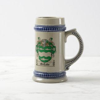 Escudo de la familia de McCabe Jarra De Cerveza