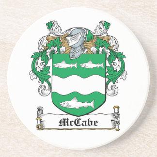 Escudo de la familia de McCabe Posavaso Para Bebida
