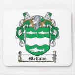 Escudo de la familia de McCabe Tapete De Raton