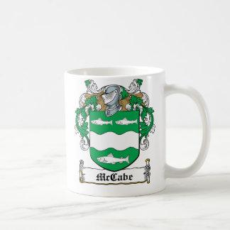 Escudo de la familia de McCabe Tazas De Café