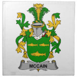 Escudo de la familia de McCain Servilleta Imprimida