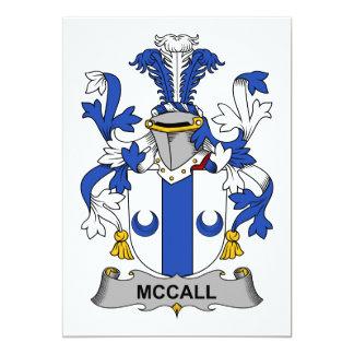 """Escudo de la familia de McCall Invitación 5"""" X 7"""""""