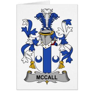 Escudo de la familia de McCall Tarjeta De Felicitación