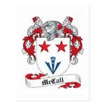 Escudo de la familia de McCall Tarjeta Postal