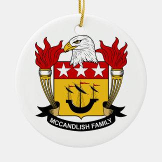 Escudo de la familia de McCandlish Adorno Navideño Redondo De Cerámica