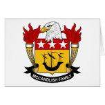 Escudo de la familia de McCandlish Felicitaciones