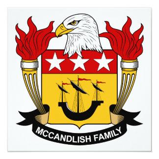 """Escudo de la familia de McCandlish Invitación 5.25"""" X 5.25"""""""