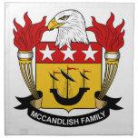 Escudo de la familia de McCandlish Servilletas De Papel