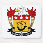 Escudo de la familia de McCandlish Tapetes De Ratón