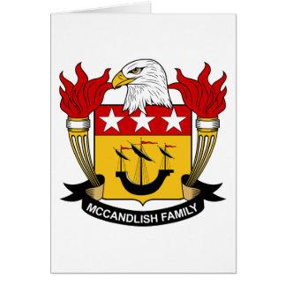 Escudo de la familia de McCandlish Tarjeta De Felicitación