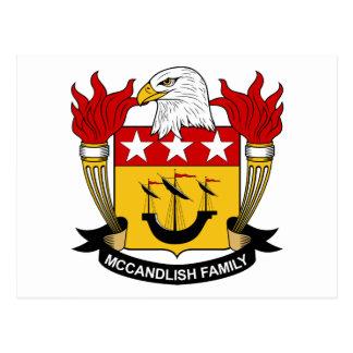Escudo de la familia de McCandlish Tarjetas Postales