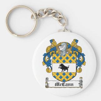 Escudo de la familia de McCann Llavero Redondo Tipo Pin