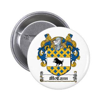 Escudo de la familia de McCann Pin Redondo De 2 Pulgadas