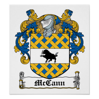 Escudo de la familia de McCann Póster