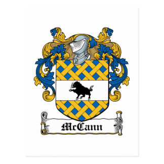Escudo de la familia de McCann Tarjeta Postal