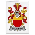 Escudo de la familia de McCarron Tarjeta