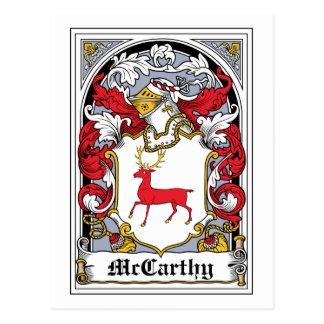 Escudo de la familia de McCarthy Tarjeta Postal