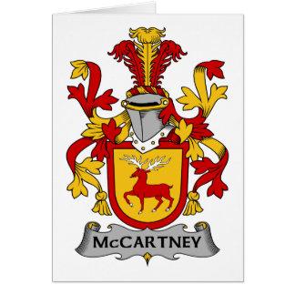 Escudo de la familia de McCartney Tarjeta De Felicitación