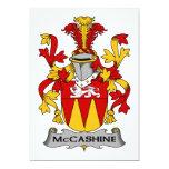 Escudo de la familia de McCashine Invitación 12,7 X 17,8 Cm
