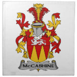 Escudo de la familia de McCashine Servilleta Imprimida