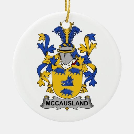 Escudo de la familia de McCausland Adorno Redondo De Cerámica