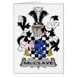 Escudo de la familia de McClave Tarjeton