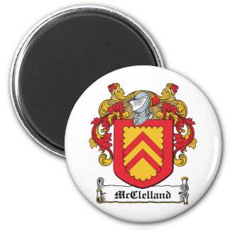 Escudo de la familia de McClelland Imán Para Frigorifico