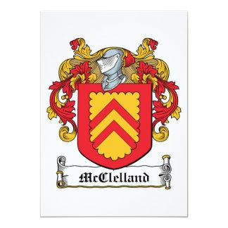 Escudo de la familia de McClelland Invitación 12,7 X 17,8 Cm