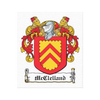 Escudo de la familia de McClelland Impresión En Lona