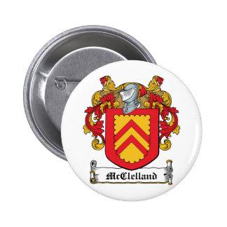 Escudo de la familia de McClelland Pin Redondo De 2 Pulgadas