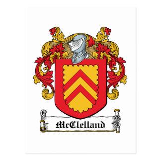Escudo de la familia de McClelland Tarjetas Postales