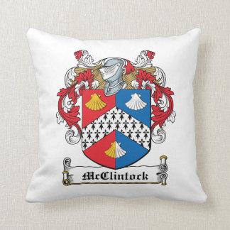 Escudo de la familia de McClintock Almohadas