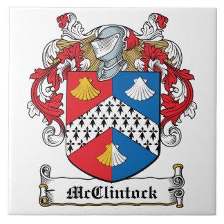 Escudo de la familia de McClintock Azulejos
