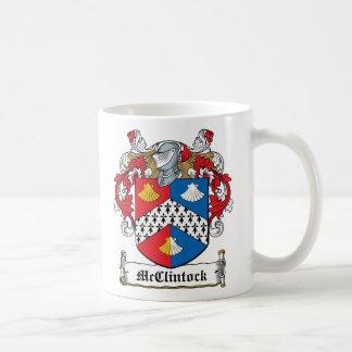 Escudo de la familia de McClintock Tazas De Café